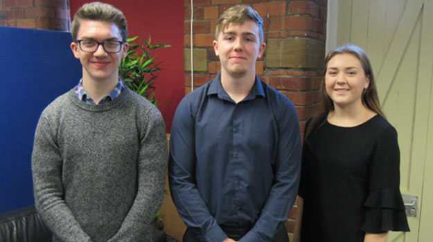 Trio of New Apprentices Appointed At Engineering Firm